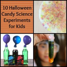 "Leftover Halloween Candy Science Experiments. What a smart way get a ""teaching moment"" with Halloween candy"