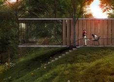 seitenansicht treppen einzimmer glashaus design am hang