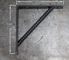 7 Rebar Shelf Bracket by steelwoodandfireshop on Etsy