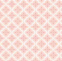 Blush Pink Fabric Ikat Moroccan Flower By