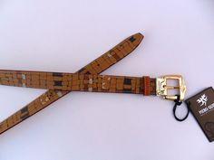 Cintura PIERO GUIDI Intreccio color marrone