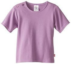 Zutano Baby Girls Pastel Solid Short Sleeve T Shirt Orchid 12 Months >>> Click on the image for additional details. (This is an affiliate link) #BabyGirlTops
