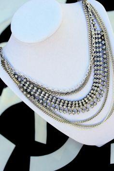 necklace rhinestone vintage