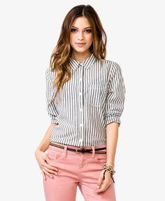 Vertical Stripes Shirt | FOREVER 21 - 2022699614