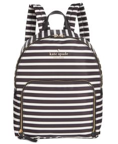 e5df1cc12fbe kate spade new york Watson Lane Hartley Backpack - Black clotted Cream Kate  Spade Luggage