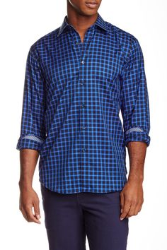 Long Sleeve Classic Fit Woven Shirt by Bugatchi on @nordstrom_rack