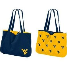 West Virginia Mountaineers NCAA Reversible Tote NEW FREE SHIPPING