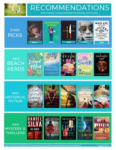 Recommendations from the Hanson Public Library staff and community members!