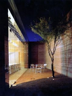rammed earth and glass
