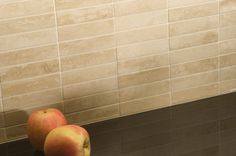 Polished Noce Travertine mosaic tiles