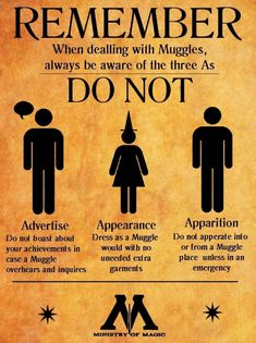 Remember... Courtesy of The Ministry of Magic