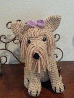 Crochet Amigurumi Yorkie Dog part 1 DIY tutorial, video, thanks so xox ☆ ★   https://www.pinterest.com/peacefuldoves/