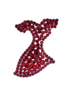Go Red For Women Rhinestone Brooch