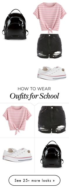 """School"" by caitlin21xx on Polyvore featuring Kendall + Kylie, Converse and Topshop"