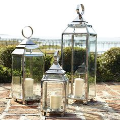 Crafted in a lovely contrast of metal and glass, our Lanterns will bring a sense of elegance and romance to your covered patio, sunroom or three season room. Our top Pin from last week!