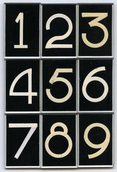 "lifeonsundays: Glass lettering by Pootjesglas, Hilversum, circa Font name ""DIK CIJFER"", Size white on black. Collection Piet Schreuders (via freakyfauna) - I Love Ugly Cool Typography, Typography Letters, Cool Fonts, Typography Design, Hand Lettering, Type Design, Graphic Design, Signwriting, Font Names"