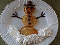 Christmas Morning Snowman Pancakes