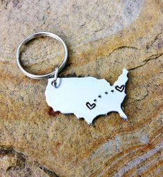 Get this custom relationship keychain for your mom when you move away.