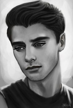 Hello! New portrait I did to practice with male faces! #drawingrealistic