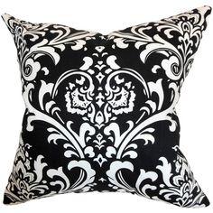 Damask Pillow in Black