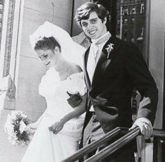 14 March 1981: Victoria Gifford and Michael L. Kennedy on the steps of St. Ignatius Loyola Church.