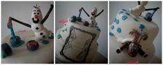 Frozen cake, Olaf painting, Princess / queen painting, drawing on cake ! Was made for my son's birthday party! We loved it