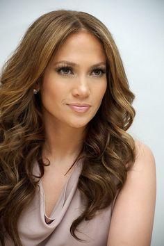 Jennifer Lopez caramel hair color