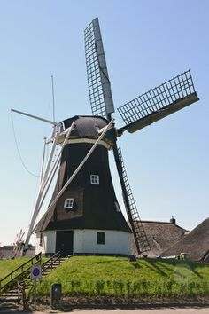 Flour mill, (grondzeiler), Rolde, the Netherlands.