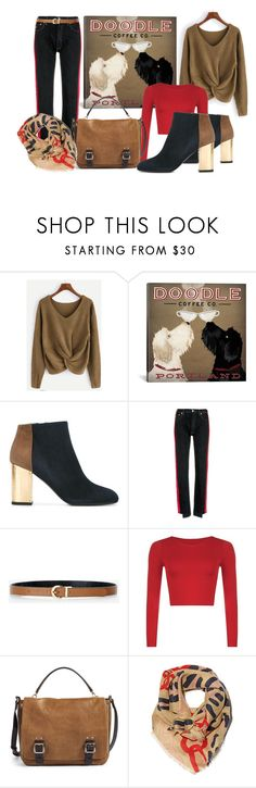 """""""Doodle Coffee Love"""" by kelli-bailey-ouimet ❤ liked on Polyvore featuring Marni, Forte Couture, Express, Vince Camuto and Lizzie Fortunato"""