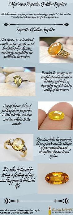 Let's take a look at these mysterious properties yellow sapphire so that you can buy the stone with complete peace of mind. Sapphire Gemstone, Blue Sapphire, Gemstone Rings, Coral Stone, Best Relationship, Mysterious, Jewerly, Mystery, Peace