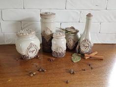 (336) Не выбрасываем пустые стеклянные банки!!! DIY. Spice jars decor. - YouTube