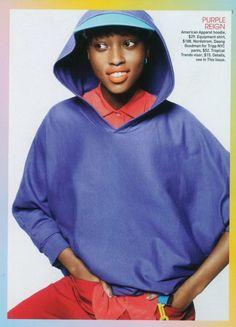 nyasha matonhodze, teen vogue, vans, american apparel, colour blocking, snapback