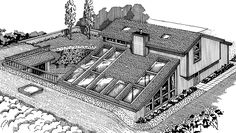 earth sheltered homes floor plans Earth Sheltere Earth Sheltered Homes, Sheltered Housing, Home Design Floor Plans, House Floor Plans, Simple Floor Plans, Earthship, Home Greenhouse, Greenhouse Ideas, Green House Design