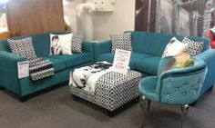 Teal lounges