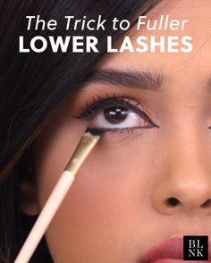 The Trick to Fuller Lower Lashes hacks for teens girl should know acne eyeliner for hair makeup skincare Skin Makeup, Makeup Brushes, Beauty Makeup, Makeup Dupes, Make Up Beratung, Makeup Tricks, Makeup Tutorials, Make Up Videos, Beauty Hacks Video