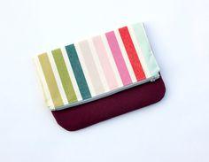 bridesmaid handbag clutch // mod stripe and by olivetreetextiles, $31.00