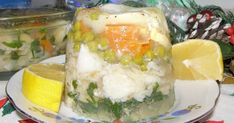 dorsz w galarecie,bacalao en gelatina,cod in jelly, Fresh Rolls, Cod, Jelly, Sushi, Ethnic Recipes, Desserts, Drinks, Pisces, Cooking