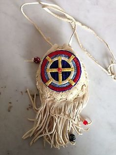 Native American Beaded Amulet Bag | eBay