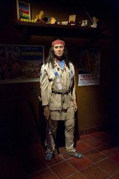 Musée Grevin Praha: Pierre Brice aka Vinnetou - new wax figure of Winnetou Pierre Brice, May 2014.