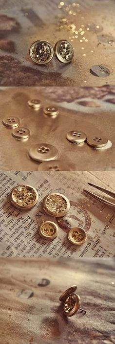 DIY Earrings and Homemade Jewelry Projects - Glitter Earrings - Easy Studs, Ideas with Beads, Dangle Earring Tutorials, Wire, Feather, Simple Boho, Handmade Earring Cuff, Hoops and Cute Ideas for Teens and Adults http://diyprojectsforteens.com/diy-earrings