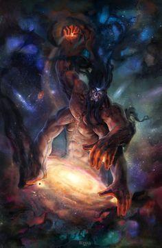 ArtStation - Creator of worlds, Alexander Kharibyn Dark Fantasy Art, Fantasy Artwork, Fantasy World, Dark Art, Fantasy Monster, Monster Art, Fantasy Creatures, Mythical Creatures, Epic Art