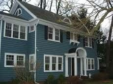 House Paint Blue Grey Google Search Colors With White Trim Houses