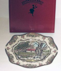 Johnson Brothers   FRIENDLY VILLAGE BLESS THIS HOUSE Tray - NEW - Boxed  | eBay