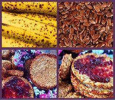 biscoito de linhaça com banana