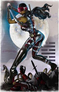 JOE - Snake Eyes -Breaking the Back of Cobra! - high quality 11 x 17 digital print Comic Book Girl, Comic Book Artists, Comic Artist, Comic Books Art, Marvel Girls, Comics Girls, Chica Fantasy, Fantasy Girl, Snake Eyes Gi Joe