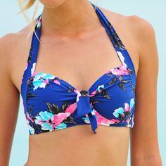 Seafolly Vintage Vacation French Blue Soft Cup Halter  #pretty #comfy #matching
