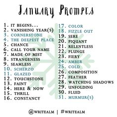 SHARE:The monthly list of prompts will be posted here on the last Monday of every month. To play along, share your post on your blog then link back here and/or comment here with the link to your post. Share the link to your post on Twitter or Instagram using the hashtag #writealm. Please…