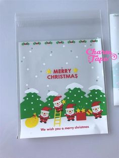 Festive Elves Gift Bags Cello Bags Self-adhesive Cookie bags - Favors Bags - Party bags 20/50/100 bags CB54
