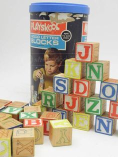 """Vintage Wood Letter Blocks by Playskool Crafts Item Description: Up for auction today are children's vintage wood letter blocks by """"Playskool"""". Although the blocks can still be played with, they are great for craft creations. Letter Blocks, Wood Letters, Block Lettering, Craft Items, Vintage Wood, Auction, Crafts, Antique Wood, Manualidades"""