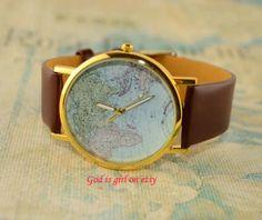 Multicolor optional world map digital casual watch by Godisgirl, $0.99